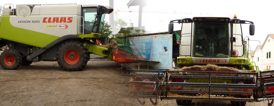 Servizi di aratura, fresatura, sgombero, trasporti e trebbiatura. Vendita di prodotti agricoli al dettaglio.
